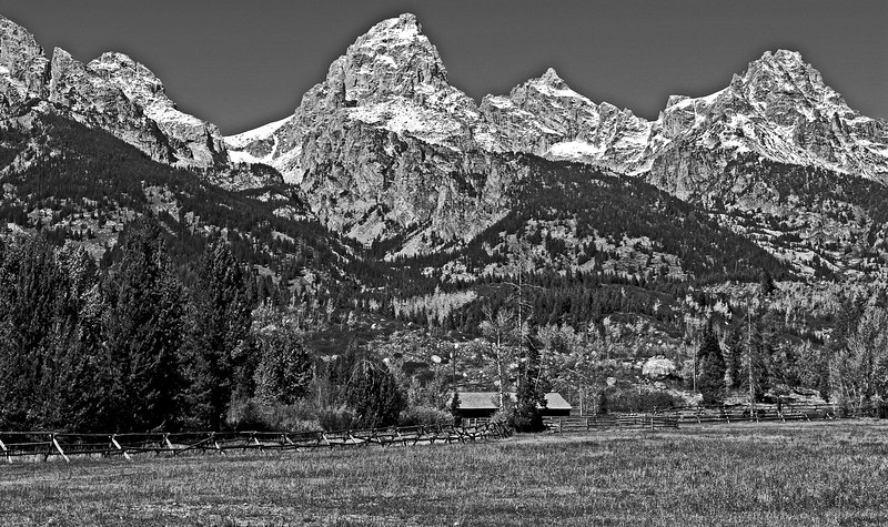Tetons in B&W conversion
