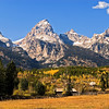 Artist's view of the Tetons in mid afternoon