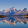 Grand Teton reflected in Jackson Lake