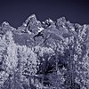 Tetons from Schwabacher Landing in infrared