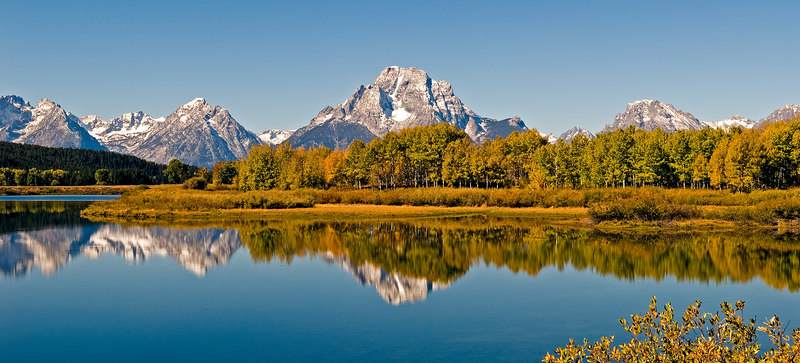 Oxbow Bend Crop.  A popular photographer's site