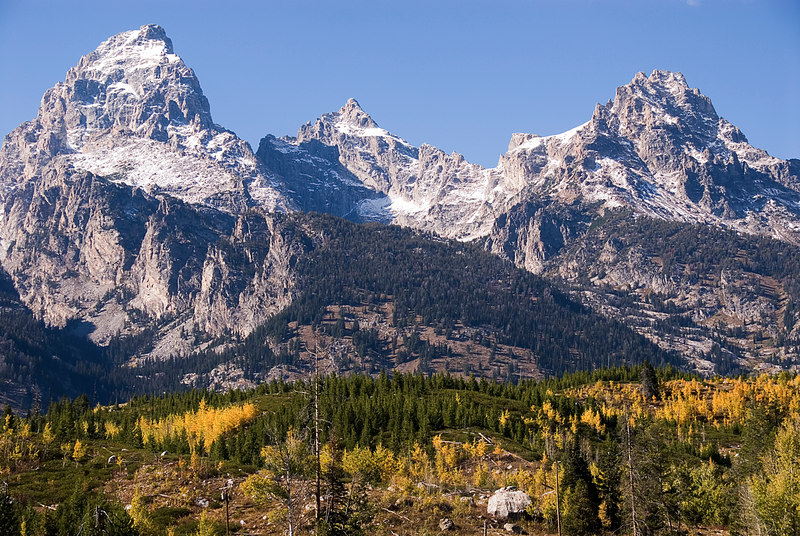 Closeup of Tetons