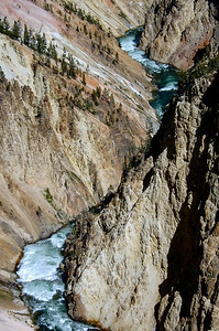The Yellowstone River. Yellowstone National Park, Wyoming.