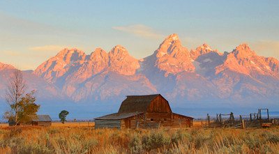 Mormon Barn at Sunrise
