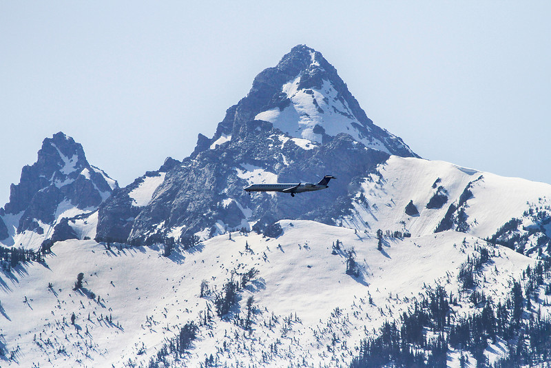 Landing at Jackson Hole Airport