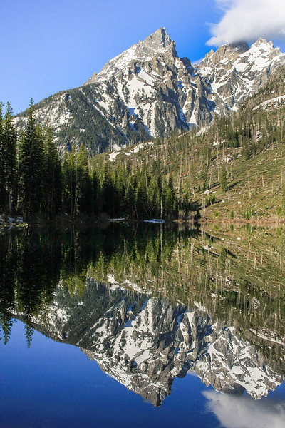 Grand Teton reflected in String Lake