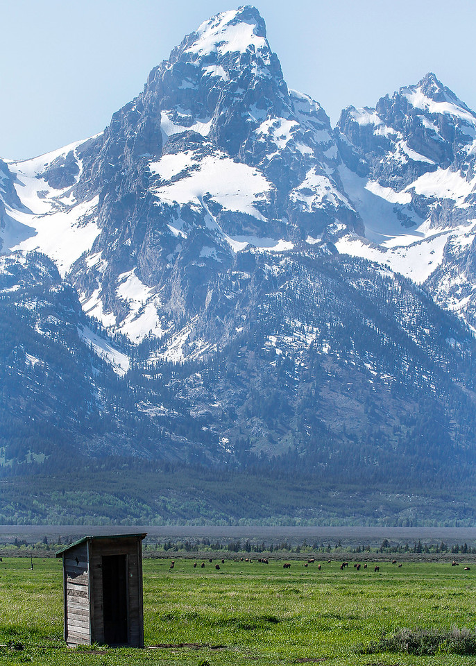 Grand Teton and Outhouse