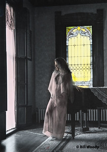 Gray Dress - Yellow Window