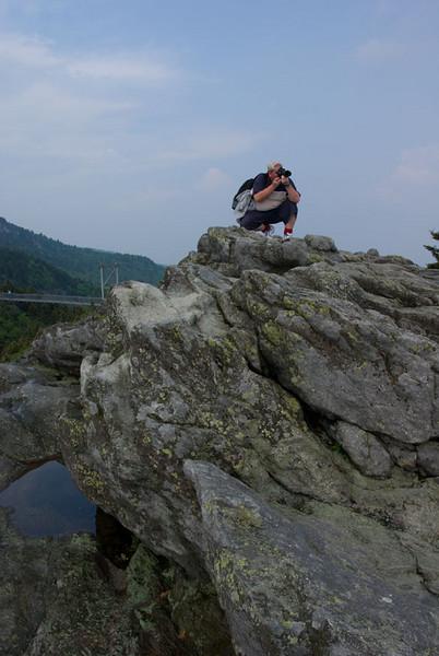 David Savage on the rocks