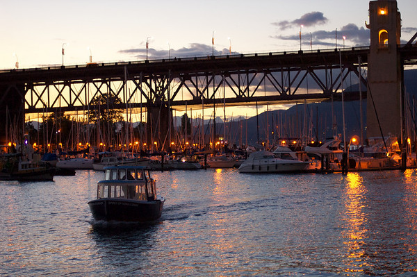 Grabbing some evening shots at Granville Island with Pawan.