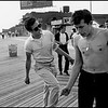 USA. Coney Island, NY. 1959. Brooklyn Gang. On the boardwalk at West Thirty-third Street, Coney Island. Left to right: Junior, Bengie, Lefty.