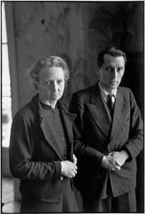 FRANCE. Irène and Frédéric Joliot-Curie, 1944.