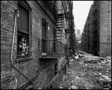 USA. New York City. 1966. East 100th Street.