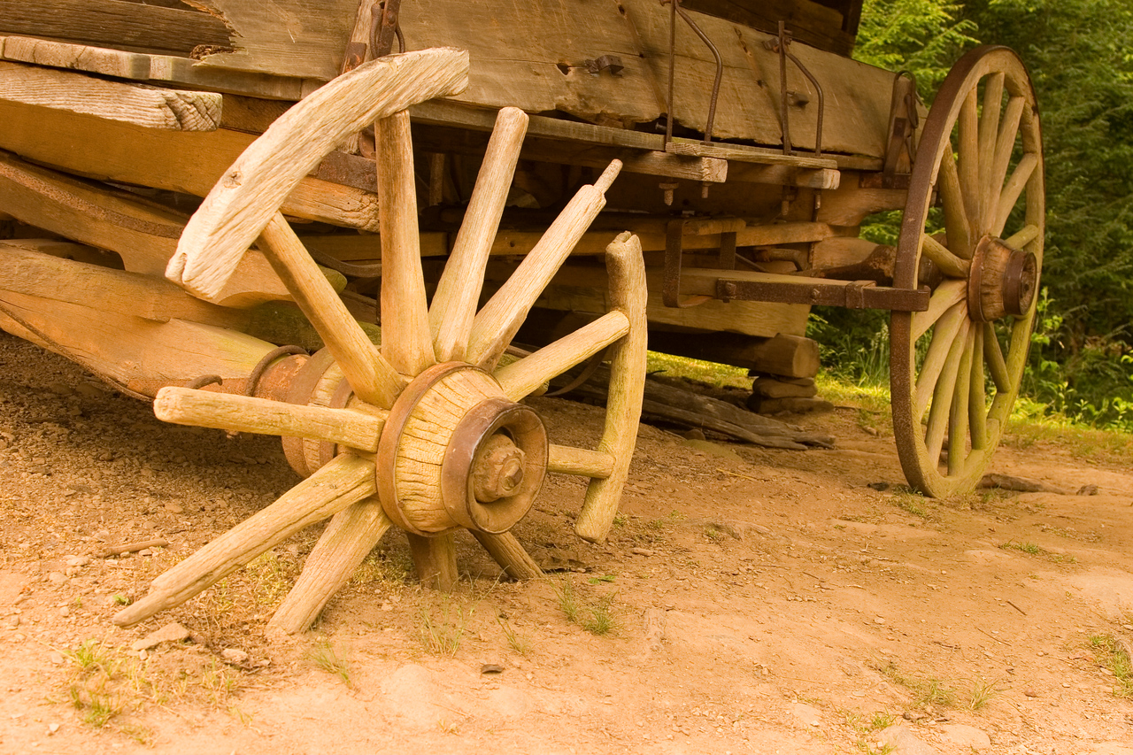 This wagon is at the Becky Cable House in Cades Cove.