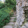There are several stairways as the path moves up and down the cliffs.