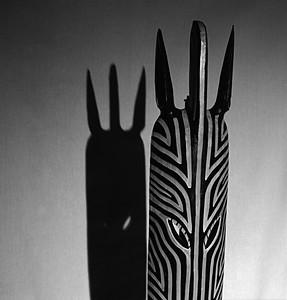 Mean Zebra (In Masks-Masks Wall One)