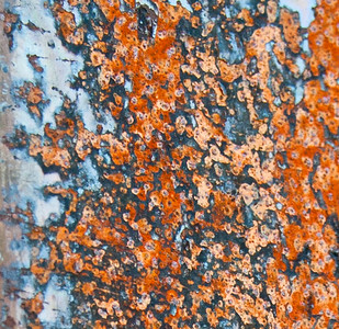 GR136    Close-up of a rust pattern.