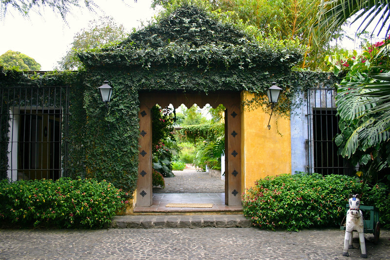 Main entrance to Hotel Quinta de las Flores- Antigua