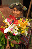 #GP 006 Woman with Flowers, Nebaj, Guatemala
