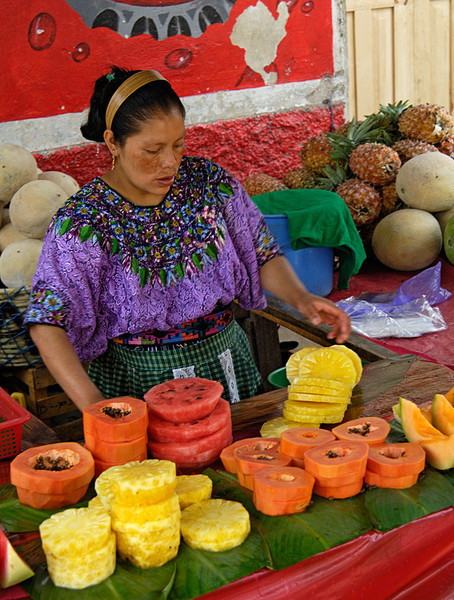 #GP 087 Fruit Vendor, Chichicastenango, Guatemala