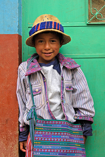 #GP 044 Boy with Traditional Bag, Todas Santos Cuchumatan, Guatemala
