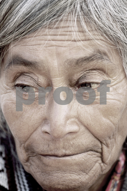 old woman in Solola