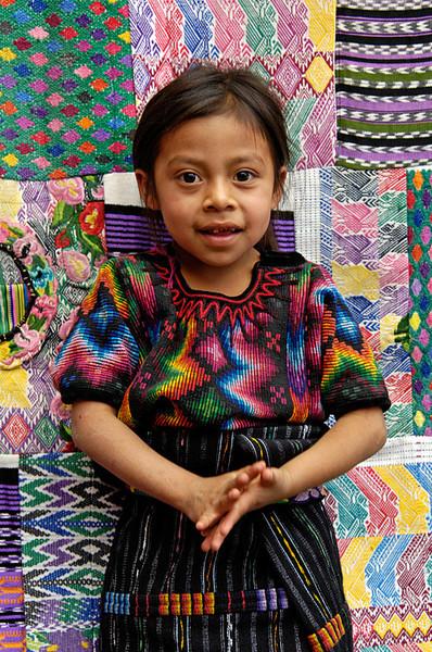 #GP 013 Young Girl, Chichicastenango, Guatemala