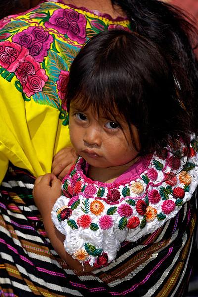 #GP 015 Child on Mothers Back, Nahyala, Guatemala