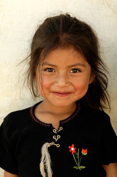 #GP 058 Girl with a Sweet Smile, Nebaj, Guatemala