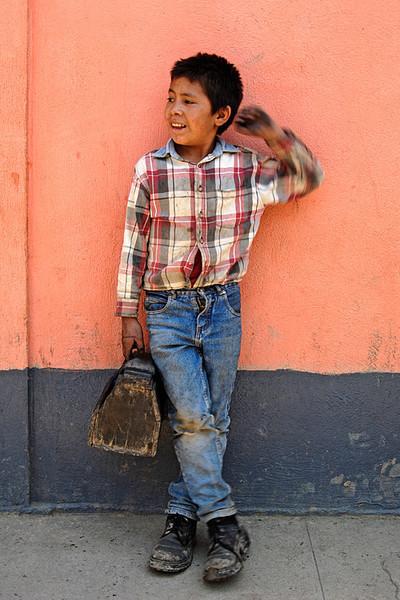 #GP 017 Shoeshine Boy, Nebaj, Guatemala