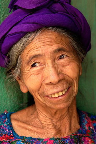 #GP 008 Woman with Purple Hat, Santa Catarina Palopo, Guatemala