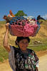 #GP 081 Woman with a Basket of Chickens, Guatemala