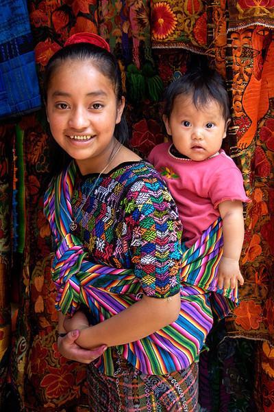 #GP 012 Girl with Child on her Back, Chichicastenango, Guatemala