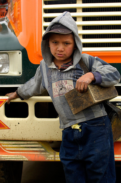 #GP 016 Shoeshine Boy with Attitude, Nebaj, Guatemala