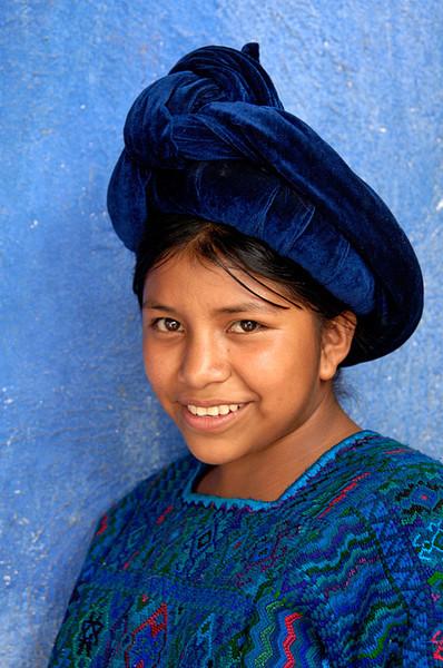 #GP 011 Girl in Blue, Santa Catarina Palopo, Guatemala