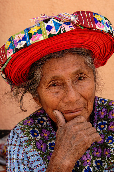 #GP 119 Woman with Traditional Hat, Santiago Atitlan, Guatemala