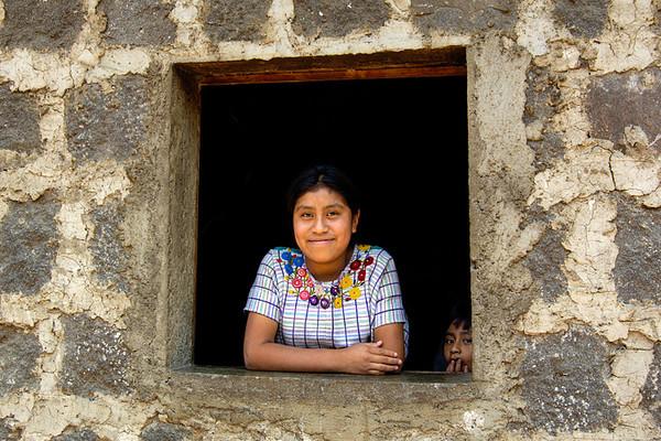 #GP 112 Girl in Window, Santiago Atitlan, Guatemala