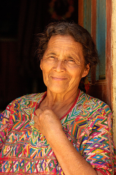 #GP 007 Woman in Doorway, Nebaj, Guatemala