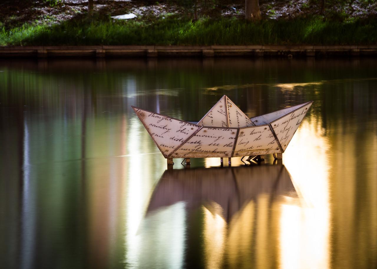 Origami glass Boat