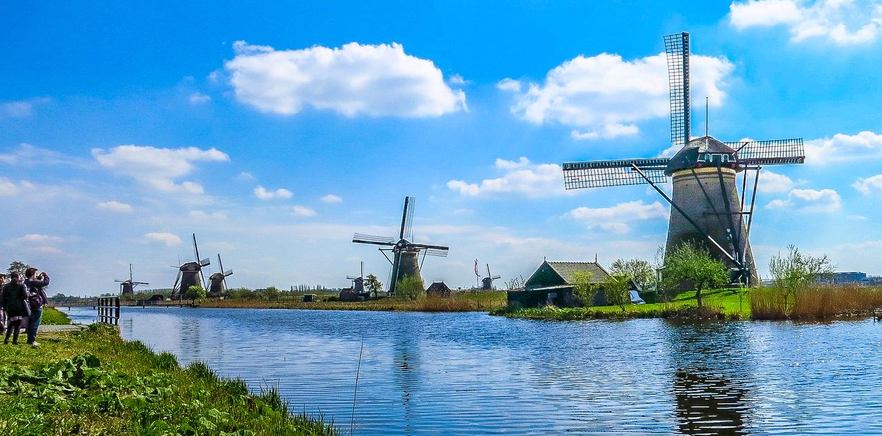 Windmills of Kinderdijk. Holland.