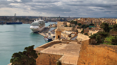 Brilliance of the Seas docked in Valletta, Malta