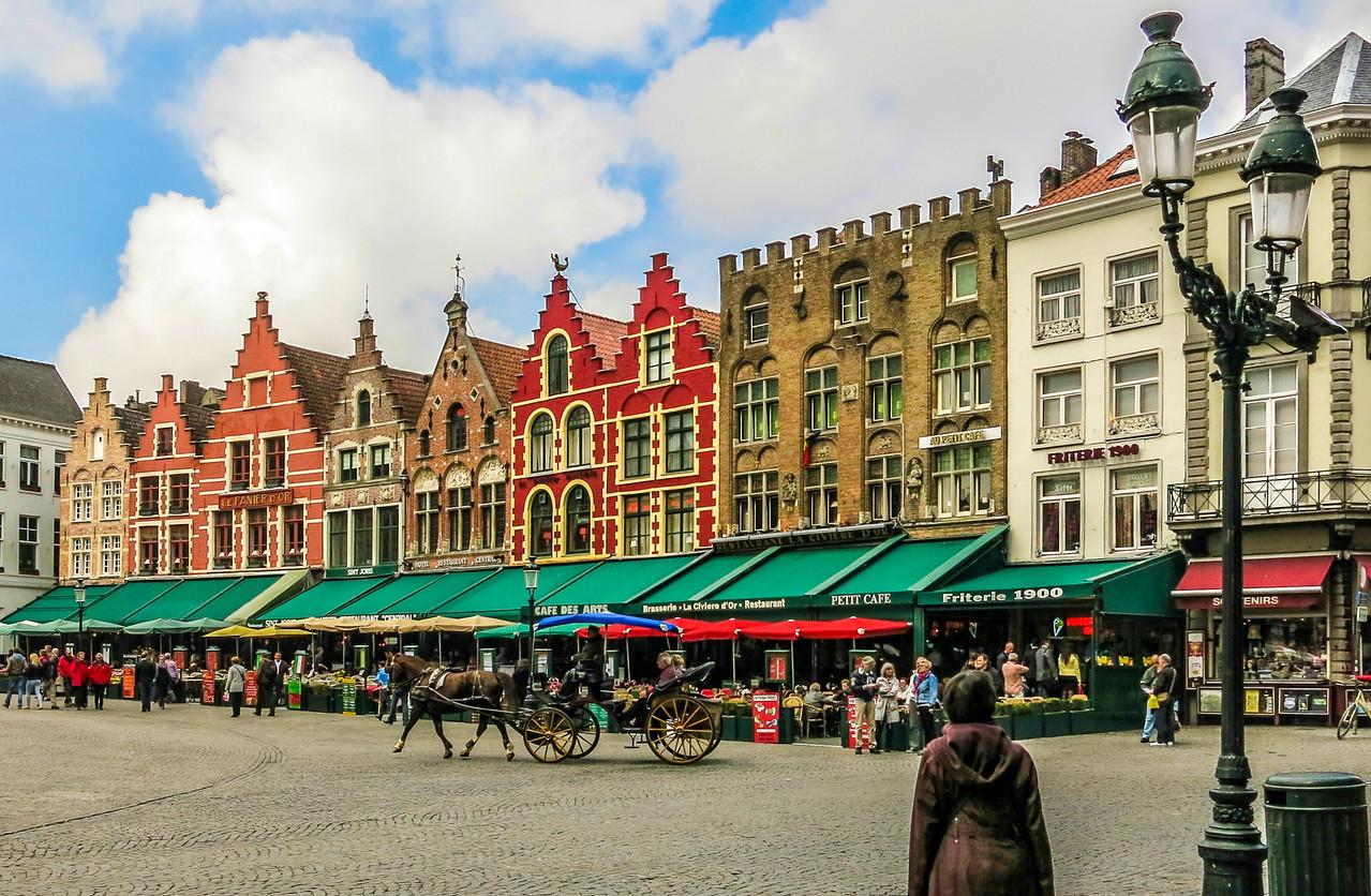 Market Square. Brugge, Belgium.