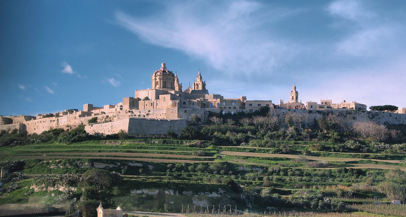 """Ancient city of Mdina.  Mdina, Malta's """"Silent City."""" Meaning """"walled city"""" in Arabic, this former capital has played a key role in the island's history for more than 1,500 years."""