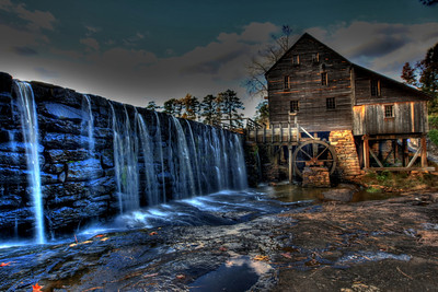 HDR (High Dynamic Range) photo of The Yates Grist Mill, Raleigh, NC
