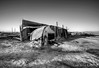Abandoned trailer at Salton Sea