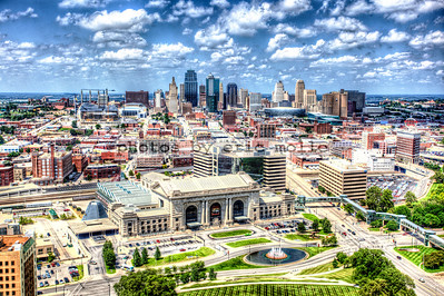Kansas City from atop the Liberty Memorial at the National World War I Museum