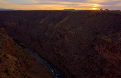 Rio Grande Gorge Bridge HDR of three images