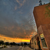 Childrens Museum, Old Town Albuquerque, at sunrise.