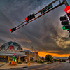Explora Science Center and Childrens Museum, Old Town Albuquerque, at sunrise.