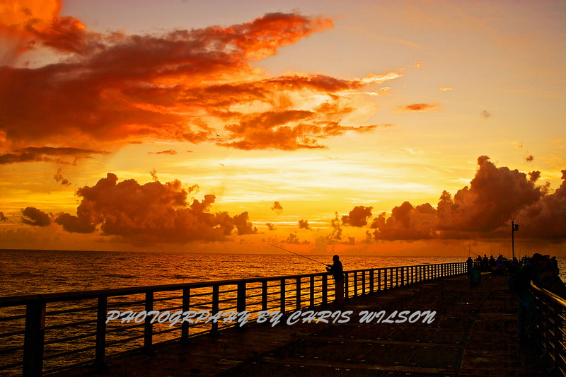 Inlet Sunrise fisherman HDR 1